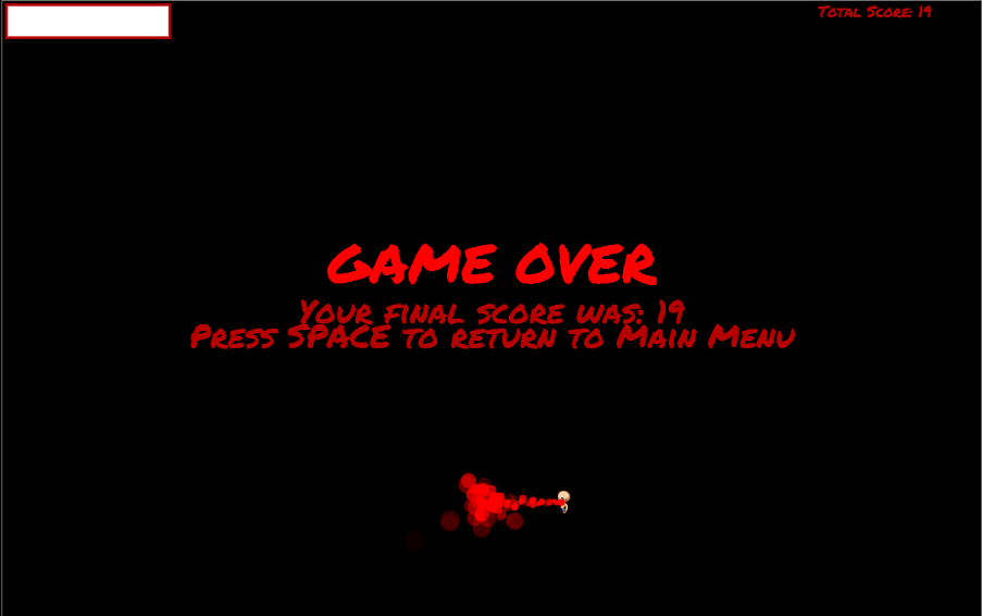 Down The rabbit Hole Game Over Screen