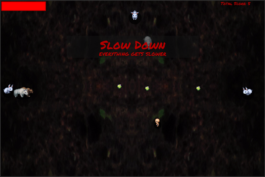 Down The rabbit Hole Game Play Screen 2