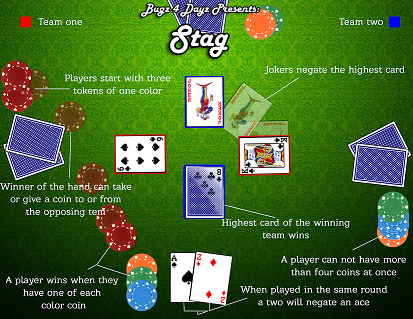 Stag the backstabbing card game